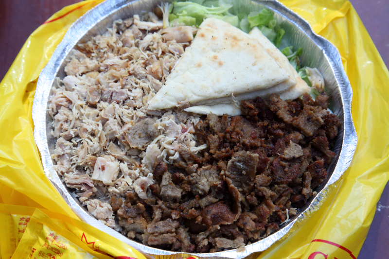 Chicken and beef gyro combo  The Halal Guys  West 53rd St  Manhattan