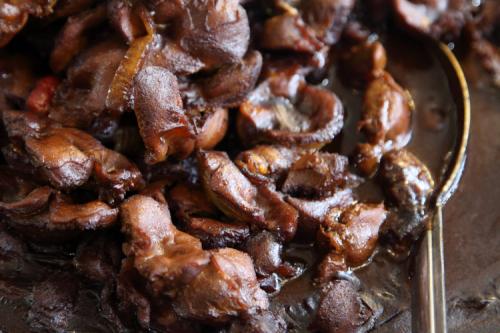 Chicken gizzards  Jacob Restaurant  Lenox Ave  Manhattan