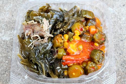 Vegetables (and a little turkey) from Jacob Restaurant  Frederick Douglass Boulevard  Manhattan
