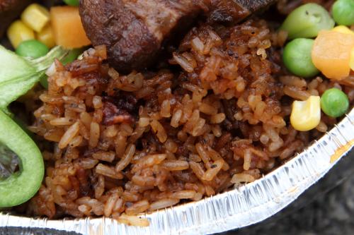 Ceebu yapp (detail of xoon)  Chez Alain  Adam Clayton Powell Jr Blvd  Manhattan
