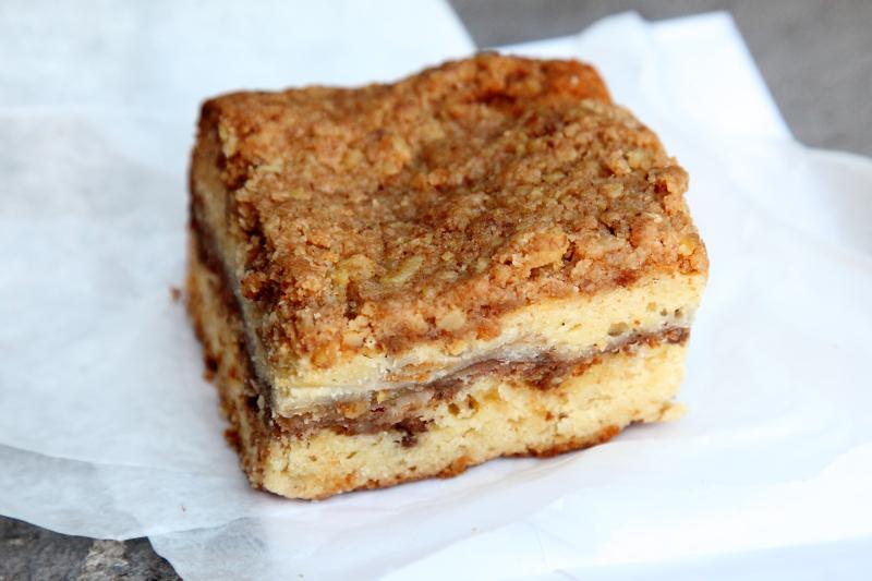 Sour cream apple coffee cake  Little Pie Co  West 43rd St  Manhattan