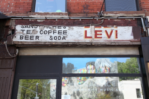 Sandwiches  tea  coffee  beer  soda  [Deli] Levi  surviving signage  The Practice Room  Tenth Ave  Manhattan