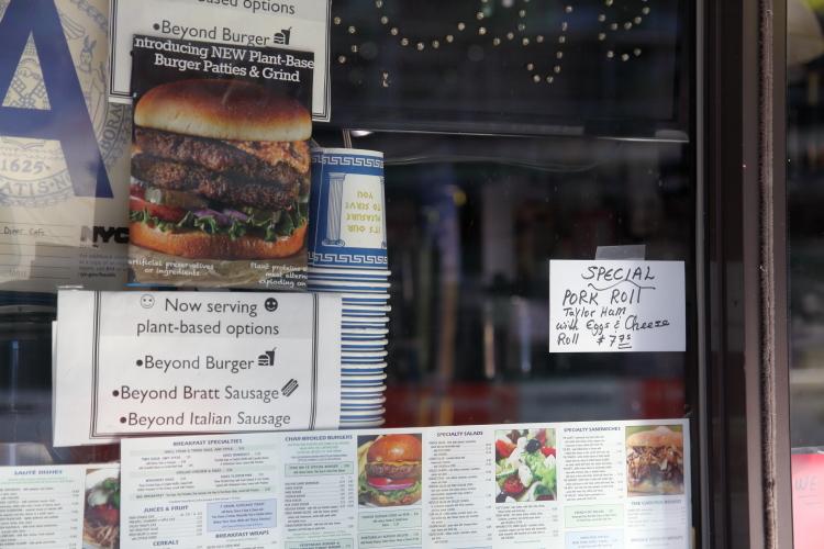 Special  pork roll  Taylor ham  handwritten sign  Star on 18  Tenth Ave  Manhattan