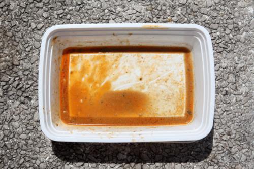 Leavings of cold sesame noodles  Hwa Yuan  East Broadway  Manhattan