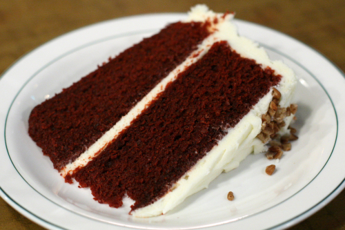 Red velvet cake at Rack & Soul  West 109th Street  New York