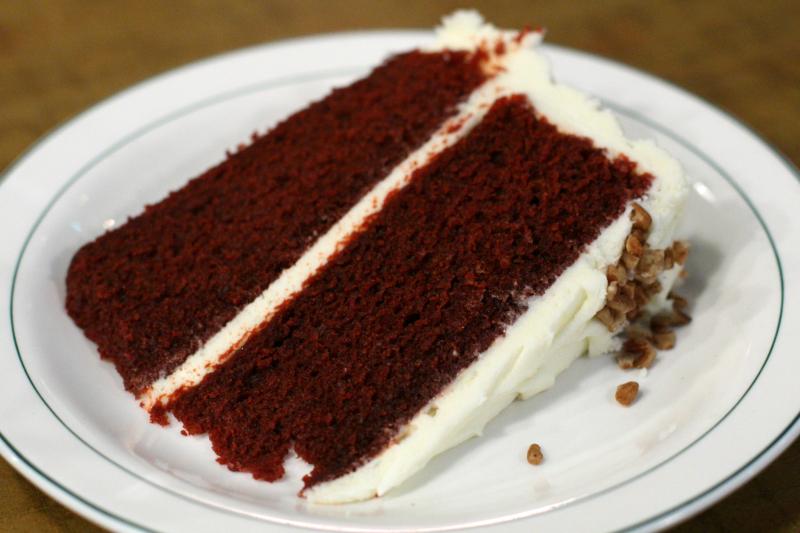 Red velvet cake at Rack & Soul  West 109th Street  New York