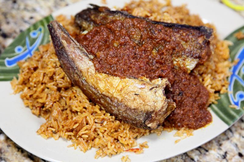 Djollof rice with tilapia  Accra  Adam Clayton Powell Jr Blvd  Manhattan