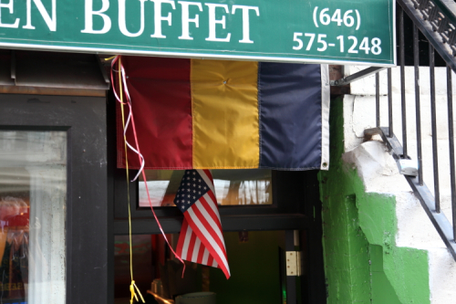 Flags of Chad and the United States  Green Garden Buffet  East 9th St  Manhattan