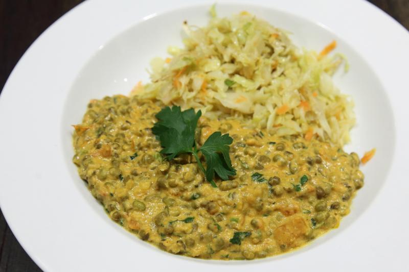 Ndengu  Kenyan lentil coconut stew  with cabbage  Swahili Village  Washington  DC