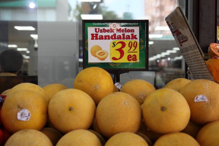 Uzbek melons  Tashkent Market  Brighton Beach  Brooklyn