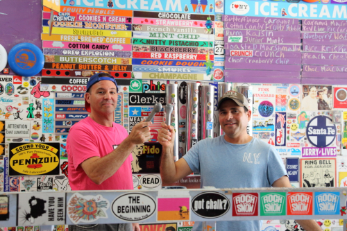 Co-owners Bruce and Mark Becker  Max & Mina's Ice Cream  Kew Gardens Hills  Queens