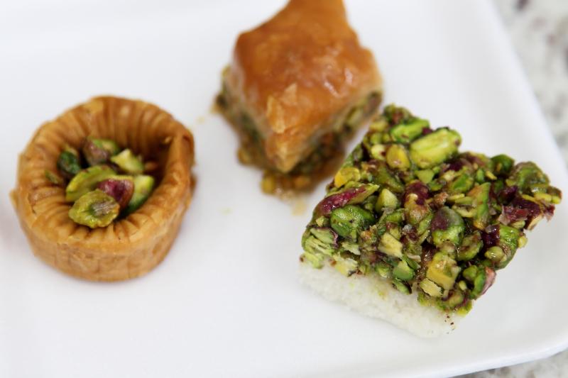 Sampler with pistachios  Damascus Sweets  Morris Park  Bronx
