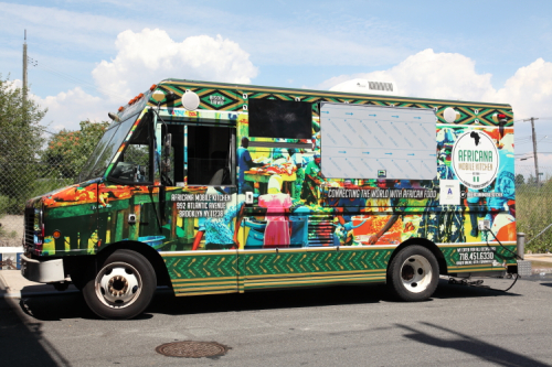 Africana Mobile Kitchen  pre-gaming in Stapleton  Staten Island