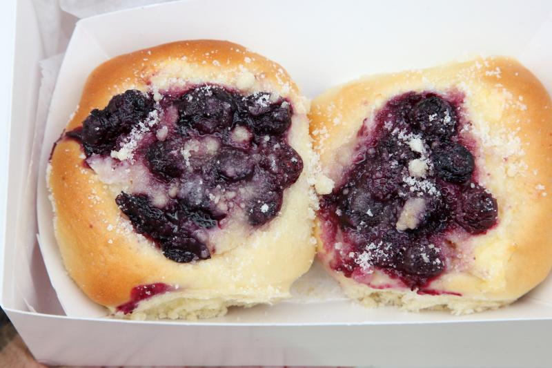 Blueberry and cream cheese kolache  Kings Kolache Bakery  Bushwick  Brooklyn