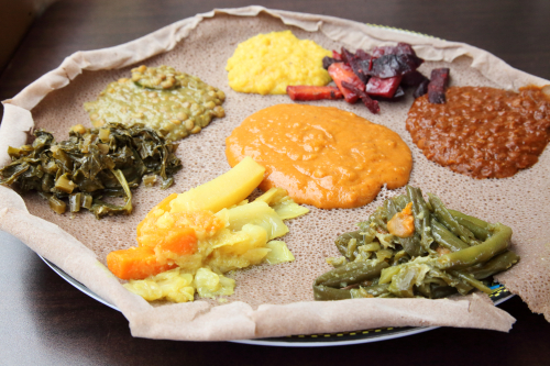 Vegetable combo  Lalibela Ethiopian Restaurant  Frederick Douglass Blvd  Manhattan
