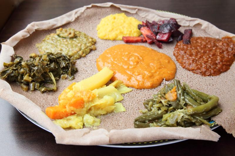 Vegetable combo  Lalibela Ethiopian Restaurant  Frederick Douglass Blvd  Manhattan