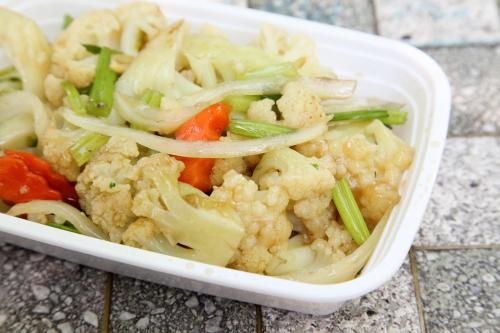 Taishan cauliflower with onion  New Yee Li  Dyker Heights  Brooklyn