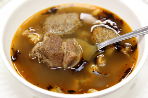 Pepper soup with goat meat and goat tripe  Sweet Breez  Allerton  Bronx