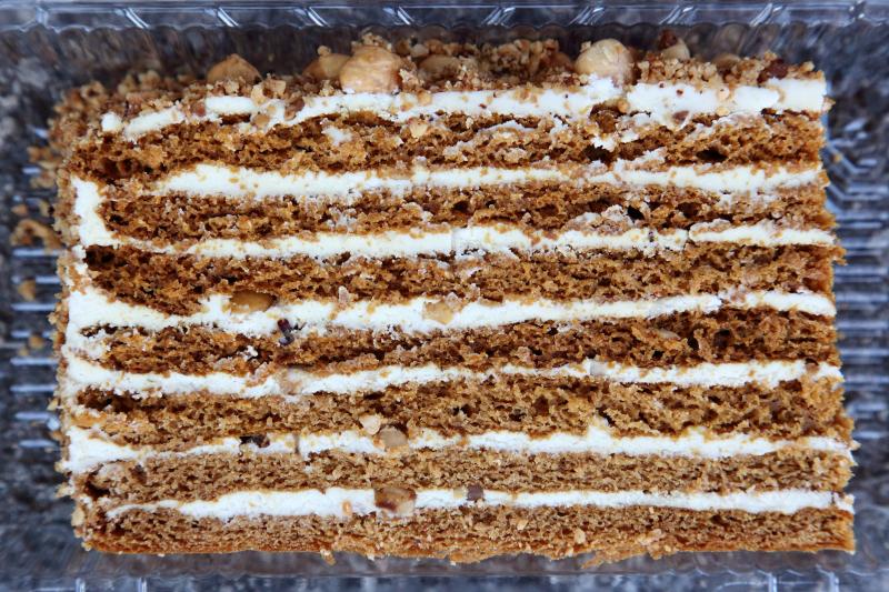Smetannik  sour cream cake  with hazelnut  Z Fancy Foodz  Sheepshead Bay  Brooklyn