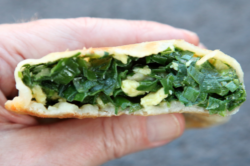 Chive and egg pocket  Delicious Jin  Landmark Quest Mall  Flushing  Queens
