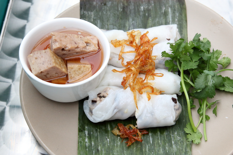 Bánh cuốn Hà Nội  steamed rice rolls  with housemade meatloaf  Bánh Vietnamese Shop House  Amsterdam Ave  Manhattan