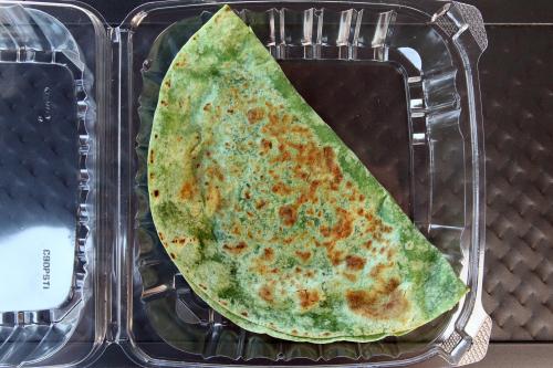 Kutab with spinach  Oasis Mega Market  Sheepshead Bay  Brooklyn