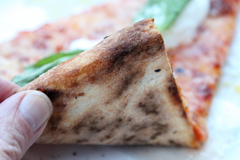 Burrata slice (underside)  L'Industrie Pizzeria  Williamsburg  Brooklyn