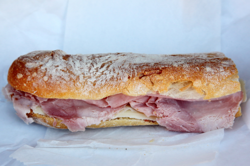 Sandwich with French ham  butter  and Comté  Stand Alone Cheese  Jackson Heights  Queens