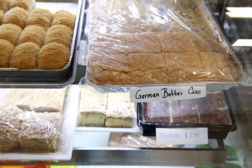German butter cake  Island Bakery  Astoria  Queens