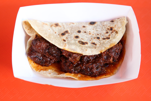 Carne guisada taco  Yellow Rose  Third Ave  Manhattan