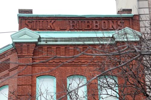 Silk ribbons  surviving signage  the former Joseph Loth & Co Silk Ribbon Mill  Amsterdam Ave  Manhattan