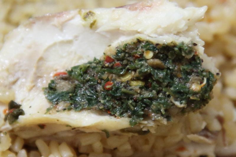 Thieboudienne (white; detail of roff)  220 African Restaurant  Wakefield  Bronx