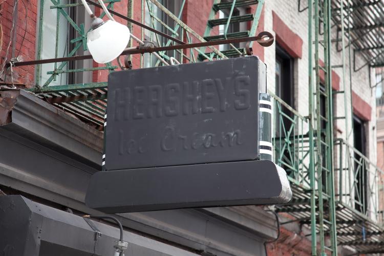 Hershey's Ice Cream  surviving signage  Bowery  Manhattan