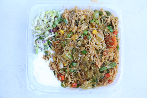 Vegetable biryani  Kwik Meal cart  West 45th St  Manhattan