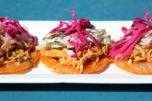 Chicken salbutes  2 Belize Girls  Bronx Night Market  Fordham  Bronx
