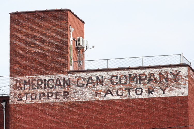 American Can Company Stopper Factory  surviving signage  Red Hook  Brooklyn