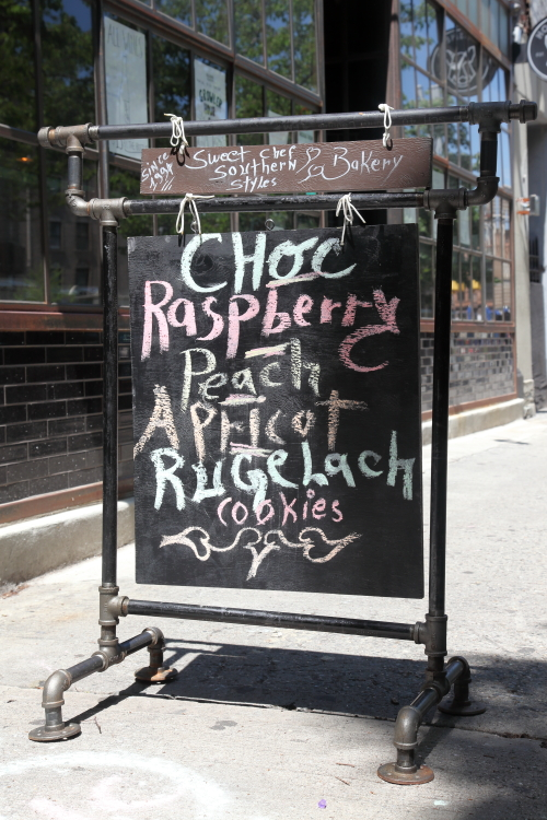 Hand-lettered signboard  Sweet Chef Southern Styles Bakery  Hamilton Pl  Manhattan
