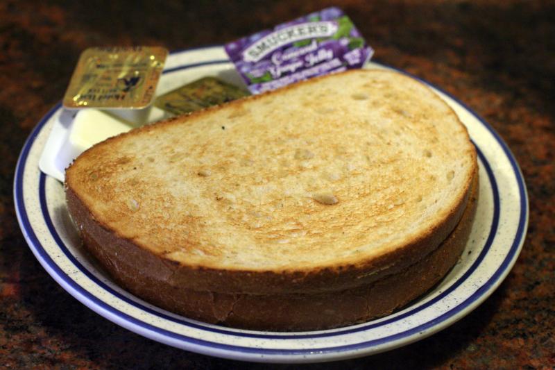 Rye toast at Tom's Restaurant  Broadway  New York