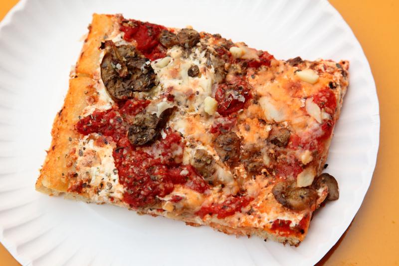 Mushroom slice  Corner Slice  Gotham West Market  Tenth Ave  Manhattan