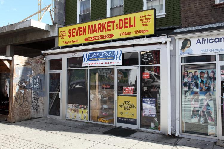 Seven Market & Deli  also home to Rincon Catracho (aka Orquidea Eats)  Washington  DC