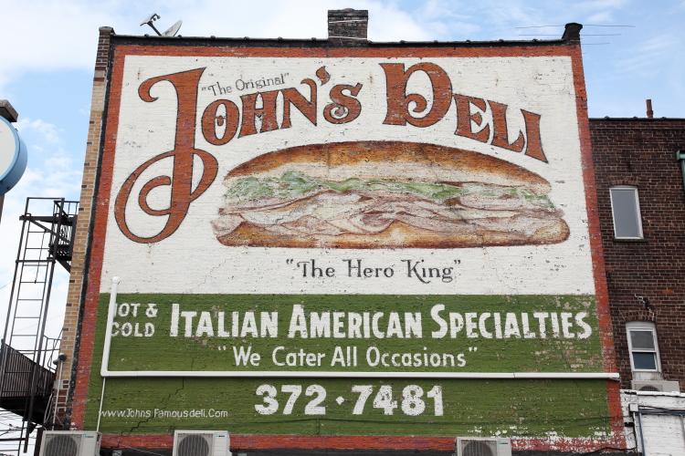 Hand-painted sign  John's Deli  Gravesend  Brooklyn