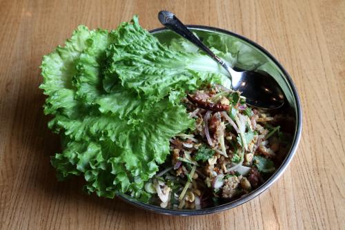 Naem khao hu muu  crispy rice salad with pig ear  Thip Khao  Washington  DC