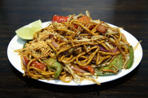 Indian mee goreng  West New Malaysia Restaurant  in the Bowery-Elizabeth St arcade  Manhattan