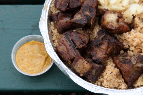 Riz gras (detail of lamb)  New Ivoire  East 119th St  Manhattan