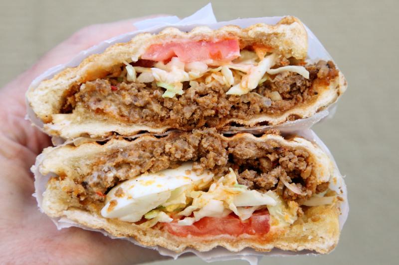 Rikitaki de res  Dominican beef sloppy joe  Empanadas Monumental  Broadway  Manhattan