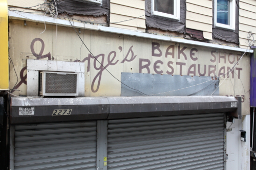 George's  bake shop  restaurant  recently uncovered surviving signage  Gravesend  Brooklyn