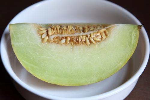 Uzbek melon (cutaway view)  Tashkent Market  Brighton Beach  Brooklyn