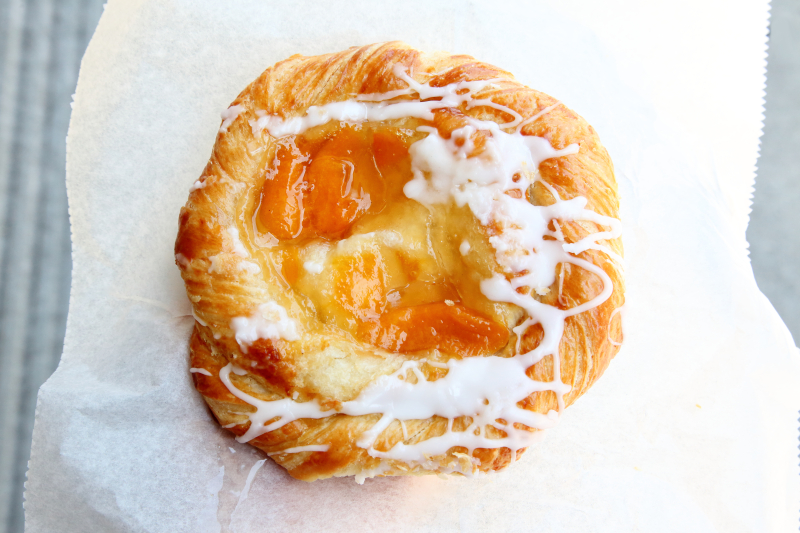 Peach danish  Leske's Bakery  Bay Ridge  Brooklyn