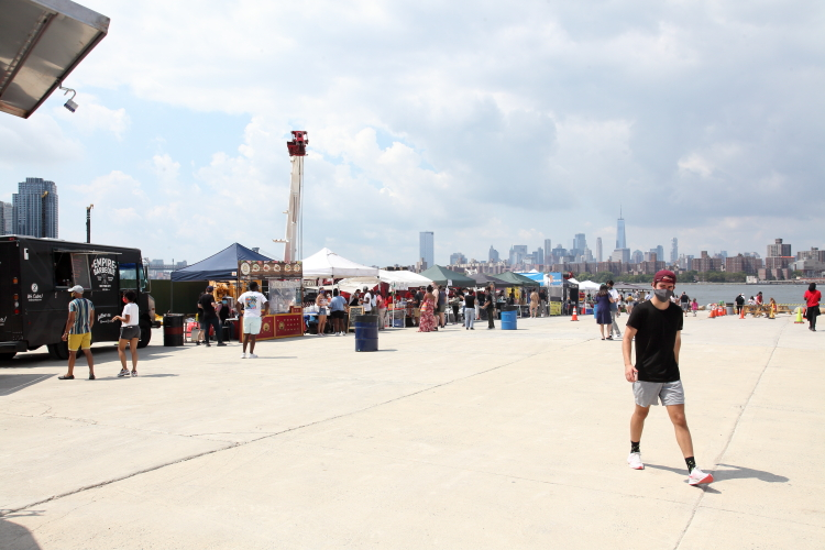 Food vendors on opening day  Greenpoint Terminal Market  Greenpoint  Brooklyn