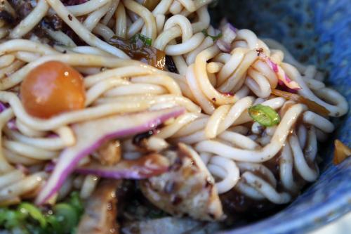 Mee shay khaut swe  spicy meeshay noodles (with pork; mixed)  Rangoon  Prospect Heights  Brooklyn